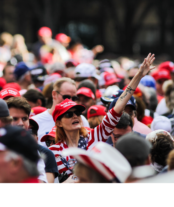 Trump supporters flood streets for Dallas rally