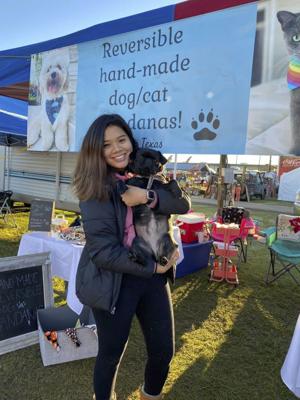 Jasmine Smith promotes Paws in Texas at local flea markets. Photo courtesy of Jasmine Smith.