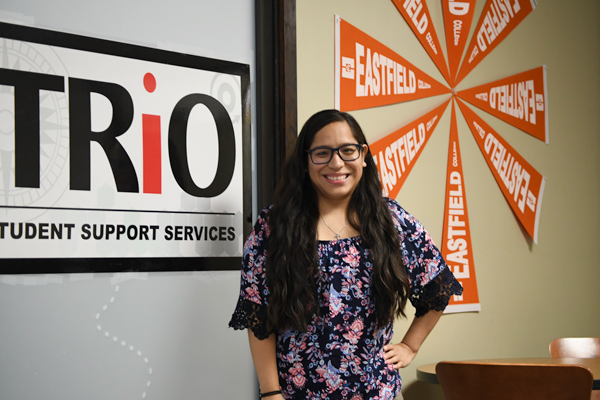 Elizabeth Vargas, TRIO program services coordinator, said her challenges in college motivated her to help students navigate their academic journey. Photo by Chantilette Franklin/The Et Cetera